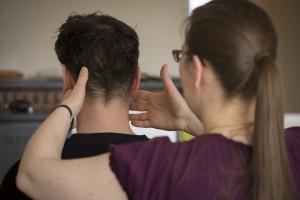Pauliina Lievonen teaching an Alexander Technique lesson